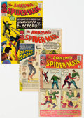 Silver Age (1956-1969):Superhero, The Amazing Spider-Man #4, 5, and 12 Group (Marvel, 1963-64).... (Total: 3 Comic Books)