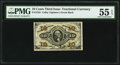 Fr. 1255 10¢ Third Issue PMG About Uncirculated 55 EPQ