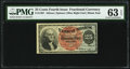 Fractional Currency:Fourth Issue, Fr. 1307 25¢ Fourth Issue PMG Choice Uncirculated 63 EPQ.. ...