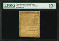 Pennsylvania March 10, 1769 2s PMG Fine 12 Net