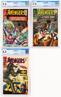 The Avengers #27, 36, and 37 CGC-Graded Group (Marvel, 1966-67).... (Total: 3 Comic Books)