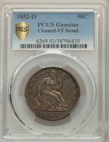 1852-O 50C -- Cleaned -- PCGS Genuine. VF Details. Mintage 144,000....(PCGS# 6269)