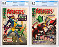 Silver Age (1956-1969):Superhero, The Avengers #42 and 46 Group (Marvel, 1967) CGC VF 8.0.... (Total: 2 Comic Books)