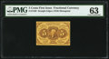 Fractional Currency:First Issue, Fr. 1230 5¢ First Issue PMG Choice Uncirculated 63.. ...