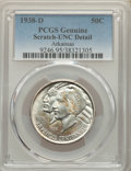 Commemorative Silver, 1938-D 50C Arkansas -- Scratch -- PCGS Genuine. Unc Details. Mintage 3,155....
