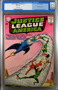 Justice League of America #17 (DC, 1963) CGC FN- 5.5 Off-white pages