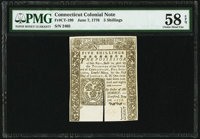Connecticut June 7, 1776 5s PMG Choice About Unc 58 EPQ