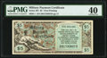 Military Payment Certificates:Series 481, Series 481 $5 First Printing PMG Extremely Fine 40.. ...