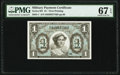 Military Payment Certificates:Series 691, Series 691 $1 First Printing PMG Superb Gem Unc 67 EPQ.. ...