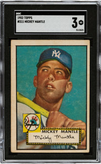 1952 Topps Mickey Mantle #311 SGC VG 3