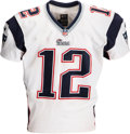 Football Collectibles:Uniforms, 2013 Tom Brady Game Worn New England Patriots Jersey Photo Matched to Three Games!...