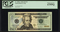Small Size:Federal Reserve Notes, Low Serial Number 2495 Fr. 2090-G $20 2004 Federal Reserve Note. PCGS Superb Gem New 67PPQ.. ...