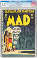 Golden Age (1938-1955):Humor, MAD #1 (EC, 1952) CGC FN- 5.5 Cream to off-white pages....