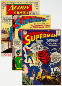 Superman-Related Group of 19 (DC, 1957-72) Condition: Average VG.... (Total: 19 )