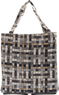 """Hermès Black Buffalo Leather & Gray """"Bolduo Au Carre"""" Silky Pop Tote Condition: 1 See Extended Cond..."""