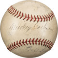 Baseball Collectibles:Balls, 1935 Detroit Tigers Team Signed Baseball from The Al Simmons Collection. ...