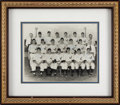 Baseball Collectibles:Photos, 1950 Joplin (MO) Miners Team Signed Photograph with Mickey Mantle....