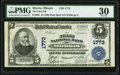 National Bank Notes:Illinois, Morris, IL - $5 1902 Plain Back Fr. 601 The First National Bank Ch. # 1773 PMG Very Fine 30.. ...