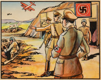 "1938 R68 Gum, Inc. Horrors of War ""Hitler's Border Tour Raises War Scare"" #277 Original Artwork"