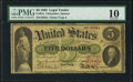 Large Size:Legal Tender Notes, Fr. 61a $5 1862 Legal Tender PMG Very Good 10.. ...