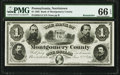 Obsoletes By State:Pennsylvania, Norristown, PA- Bank of Montgomery County $1 Jan. 2, 1865 G14 Remainder PMG Gem Uncirculated 66 EPQ.. ...