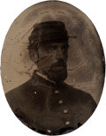 Photography:Tintypes, First Regiment N.Y.V. Reunion Badge And Tintype....