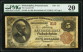 National Bank Notes:Pennsylvania, Philadelphia, PA - $5 1882 Brown Back Fr. 466 The Second National Bank Ch. # 213 PMG Very Fine 20.. ...