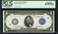 Large Size:Federal Reserve Notes, Fr. 871c $5 1914 Federal Reserve Note PCGS Choice New 63PPQ.. ...