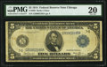 Fr. 869 $5 1914 Federal Reserve Note PMG Very Fine 20
