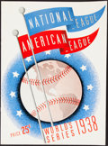 Autographs:Others, 1938 World Series Program Signed by Gabby Hartnett ...