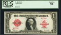 Large Size:Legal Tender Notes, Low Serial Number A235B Fr. 40 $1 1923 Legal Tender PCGS About New 50.. ...