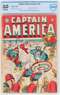 Captain America Comics #25 (Timely, 1943) CBCS GD/VG 3.0 Off-white pages