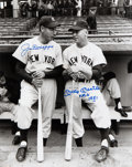 Autographs:Photos, Signed Joe DiMaggio & Mickey Mantle Oversized Photograph. ...