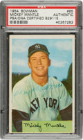 Autographs:Sports Cards, Signed 1954 Bowman Mickey Mantle #65 PSA/DNA Authentic - P...