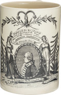 "Political:3D & Other Display (pre-1896), George Washington: Sought-After ""Long Live the President"" Liverpool Tankard. ..."
