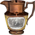 Political:3D & Other Display (pre-1896), Andrew Jackson: Copper Luster Pitcher....