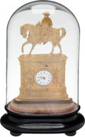 Political:3D & Other Display (pre-1896), Zachary Taylor: A Stunning Gilt Clock Depicting Him on Horseback. ...
