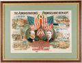 """Political:Posters & Broadsides (1896-present), McKinley & Roosevelt: One of the Classic Multicolored Poster Designs from the """"Golden Age"""" of American Color Lithography...."""