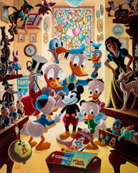 Carl Barks In Uncle Walt's Collectery Signed Limited Edition Lithograph Print 83/345 (Another Rainbow, 1984)