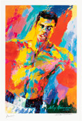 Boxing Collectibles:Autographs, 1990's Muhammad Ali Print by LeRoy Neiman, Signed by Both. ...