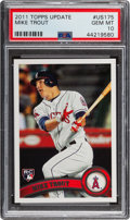 Baseball Cards:Singles (1970-Now), 2011 Topps Update Mike Trout #US175 PSA Gem Mint 10....