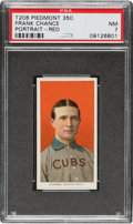 Baseball Cards:Singles (Pre-1930), 1909-11 T206 Piedmont 350 Frank Chance (Portrait-Red) PSA NM 7 - Pop One, Two Higher for Brand/Series. ...
