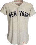 Autographs:Baseballs, 1961 Mickey Mantle Game Worn New York Yankees Jersey- Photo Matched to 1960 & 1961 World Series!...