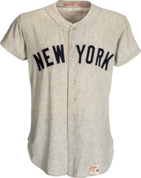 1961 Mickey Mantle Game Worn New York Yankees Jersey- Photo Matched to 1960 & 1961 World Series!
