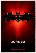 "Batman & Robin (Warner Bros., 1997). Rolled, Near Mint. Printer's Proof One Sheet (28"" X 41"") DS, Adva..."