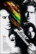 """Movie Posters:Action, The Fast and the Furious (Universal, 2001). Rolled, Very Fine. One Sheet (27"""" X 40"""") SS. Action.. ..."""