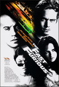 "The Fast and the Furious (Universal, 2001). Rolled, Very Fine. One Sheet (27"" X 40"") SS. Action"