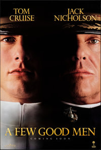 "A Few Good Men (Columbia, 1992). Rolled, Very Fine+. One Sheet (27"" X 40"") DS, Teaser. Drama"