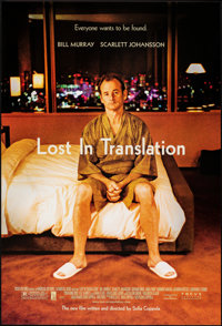 "Lost in Translation (Focus Features, 2003). Rolled, Near Mint. One Sheet (27"" X 40"") SS. Comedy"