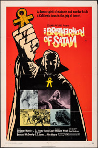 "The Brotherhood of Satan & Other Lot (Columbia, 1971). Folded, Fine/Very Fine. One Sheets (4) (27"" X 41"")..."